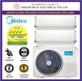 *New Model* Midea System 2 [4 Ticks] Multi-split Air conditioner 2 x 9000 BTU SMKM09I04R+ 1 x  MS4OD-21 + NEW Installation