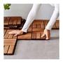 Ikea戶外拼接地板 單片售 洋槐木 購買九片可拼成 90*90公分 木地板 木質