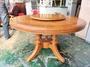 東鼎二手家具 柚木圓形轉盤餐桌*和室桌*茶几桌*客廳桌*沙發桌*矮桌*泡茶桌*餐桌*造型桌*邊桌*家庭用