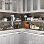 廚房置物架微波爐架子壁掛墻上304不銹鋼家用收納架掛架烤箱架