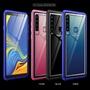 金屬邊框殼 A9 A70 A60 三星Galaxy 透明玻璃背板手機殼 Samsung A9 2018 4鏡頭手機套高檔