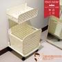 【HappyHOUSE快樂屋】大幫手雙層洗衣置物籃(浴室髒衣籃車)