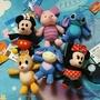 #正版  迪士尼系列  米妮米奇蒂蒂屹立小豬史迪奇  吊飾  小型娃娃 共六款