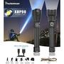 強大的XHP90 LED手電筒燈變焦手電筒USB可充電戰術燈18650或26650露營狩獵燈充電戰術燈野營狩獵燈