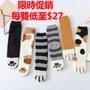限時促銷 秋冬新品 毛絨襪子珊瑚絨襪子加厚保暖地板襪居家貓爪襪子 腳印六色睡眠襪 甜美 中筒襪 軟妹必備