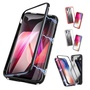 萬磁王鋼化玻璃手機殼 金屬邊框全包防摔保護殼IPhone Xs/Xs Max/XR I6 I7 I8 Plus 現貨