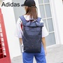 Adidas leisure backpack unisex general computer bag xissey miyake life 3D diamond geometry roll top backpack