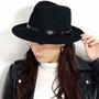 意大利製造氈帽子人黑中的去帽子menzuururezaberutofedorahatto GALLIANO SORBATTI簡單的帽子男女兩用帽子氈黑色[felt hat][fedora]聖誕節父親節生日 ELEHELM HAT STORE