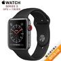 Apple Watch Series 3 GPS+ LTE 版 42mm 太空灰鋁金屬錶殼配黑色運動錶帶 (MTH22TA/A)【拆封福利品A級】