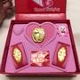 彌月金飾 彌月禮盒 三件組 平安幸福0.2錢 音樂盒