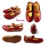 Vancole凡可利/RI05/Comfortable俏皮加寬楦(3E)娃娃鞋/紅