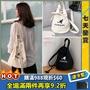 【安妮代購】韓國代購 Kangol帆布包 袋鼠 圓桶三色抽繩系帶單肩包 雙用手提斜跨帆布 水桶包 Kangol側背包