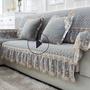 【精美賣場】歐式毛絨沙發墊布藝冬季防滑坐墊簡約現代冬天客廳灰色萬能沙發套
