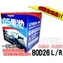 全動力-GS 統力/全新汽車電池80D26L 80D26R 免加水/免保養/凌志 ES350 IS250 LEX300