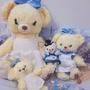 日本 東京迪士尼 愛麗絲 早期 初代 三週年 S娃娃 金鏈吊飾 大學熊