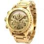 歐美  代購 NIXON 尼克森 手錶 42-20 42mm 計時 金色金錶 錶錶 A037-502 A037502