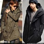 TOP SOUL 【LA0046】時尚型男大帽領設計拉繩軍裝外套 風衣外套 N3B M51 長大衣 預購款