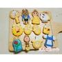 嵐的甜甜手作~~糖霜餅乾 收涎餅乾 大片12入組美女與野獸系列~~可客製喔^^
