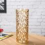 歐式大號水晶玻璃花瓶客廳小清新擺件插花水培富貴竹干花落地花器 WD
