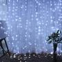 【K歌專屬】✨LED彩燈閃燈串燈 多段燈光可調 防水冰條燈節日/主播背景/窗簾瀑布裝飾燈流水燈