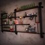 【J Simple傢俱】LOFT水管層架 工業風 書架 展示架 美式復古儲物架 收納架 收納櫃 櫃子架子 酒架 壁掛