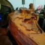 檜木原木泡茶桌組