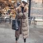 加厚修身冬季長款過膝羽絨棉服女羽絨鋪棉風衣外套大衣 韓國爆款超長款長版保暖大衣風衣外套