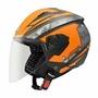 法國 ASTONE RST AQ1 黑橘色 半罩式 安全帽 內置墨片