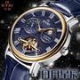 [贈原廠盒] EYKI 艾奇 日月星辰 太陽月亮顯示鏤空透視 機械錶 蝴蝶扣   ☆匠子工坊☆【UK0038】