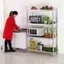 廚房不銹鋼四層置物架落地收納架子多功能家用貨架微波爐架烤箱架 好再來小屋 NMS