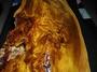 ※ 藏品分享  台灣國寶 ※  沉水級   山枯木 黑格  台灣肖楠釘榴  原榴  擺飾  雕刻  茶盤料 88CM