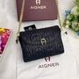 AIGNER愛格納GENO系列牛皮晚宴包 斜背包 側背包 鏈帶包