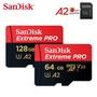 Sandisk存儲卡Extreme Pro 256GB 128GB 記憶卡UHS-I micro SD卡64GB TF卡