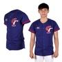 MIZUNO 限量中華台北男女短袖T恤-加油T 棒球衣 美津濃 藍紅白