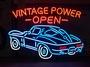 VINTAGE POWER-OPEN-復古功率公開電光裝飾電子告示板照明室內裝飾招牌美國的雜貨霓虹燈信號氖管 Nop Nop Rakuten Ichiba Ten