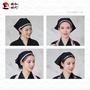 【日式料理工作服】日式頭巾帽料理餐廳日式料理工作服頭巾帽日式女式三角頭巾