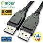 amber VESA DisplayPort 1.4認證影音傳輸線8K@60Hz,DP 1.4 8K@60Hz-1.8M