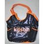 Kitson雙色托特亮片包