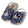 童鞋86(12.5~14.5公分)Disney迪士尼米奇藍色星星護趾鬆緊帶寶寶拖鞋D7S214B