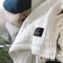 日本桃雪 八層紗透氣被(純淨白) 鈴木太太