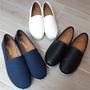 女款素面平底懶人鞋 小白鞋 白布鞋 包鞋 帆布鞋 休閒鞋台灣製MIT(帆布藍,漆面黑,白色)
