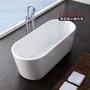 【聯德爾】薄邊橢圓單體獨立式浴缸(小型浴缸/獨立式浴缸/150公分)