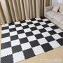 拼接地毯 宿舍地面墊子拼接海綿地毯大學生寢室拼圖地板泡沫地墊防水 晶彩生活