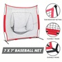 棒球棒球 壘球壘球打擊網練習網英尺棒球護具運動護具棒球網訓練習網打擊網平面擋網壘球網7x7英尺棒球團建運動