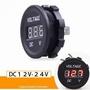 【LED數顯電壓表-DC12V-24V-直徑3.6*3.3cm-1套/組】摩托電動車汽車24V/12V電瓶電壓表-527026