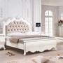 品家居 杜堤5尺絲絨布實木雙人床架(不含床墊)-165x212x160cm免組