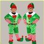 兒童萬聖節服裝男童演出服飾 綠色小精靈聖誕老人的小幫手錶演服