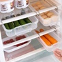 冰箱掛架 抽屜式冰箱收納盒創意隔層掛架廚房水果食物塑料分隔保鮮盒 夢藝家