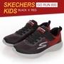 (Best Buy)SKECHERS GO RUN 童鞋  運動鞋 跑鞋  魔鬼氈@(97867LBKRD)