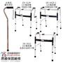 【優惠組】恆伸醫療器材 ER-2021鋁合金單手拐杖+助行器組(3種款式任搭)